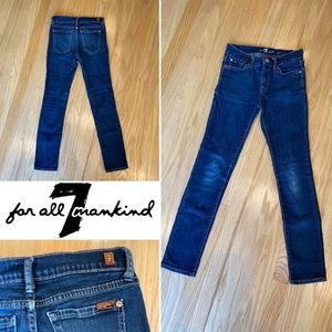 Authentic 7 for all mankind skinny jeans